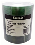 100 Pack Spin X Silver Clear Coat CD-R (printable hub)