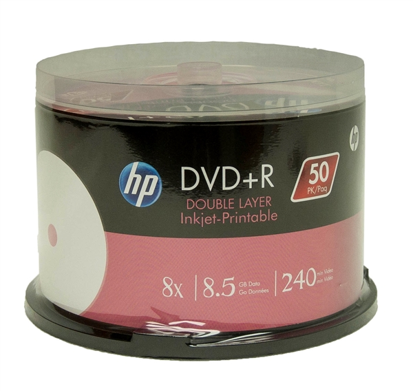 hp white inkjet printable dvd r dual layer. Black Bedroom Furniture Sets. Home Design Ideas