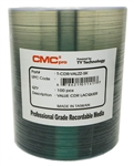 100 Pack CMC Pro powered by Taiyo Yuden Valueline Silver Lacquer CD-R in Tape Wrap