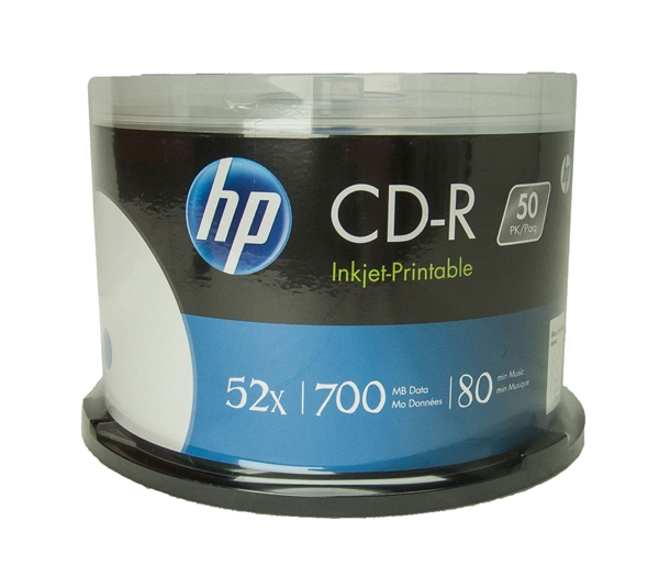 picture relating to Inkjet Printable Cd identified as 300 Pack HP White Inkjet CD-R (PH)