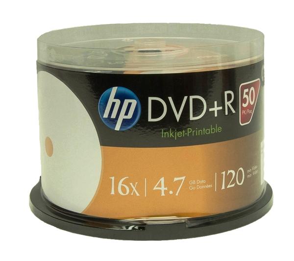 graphic regarding Hp Printable identified as 600 Pack 16X HP White Inkjet printable DVD+R (Printable Hub)