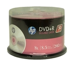 50 pack HP branded  Dual Layer DVD+R DL 8X