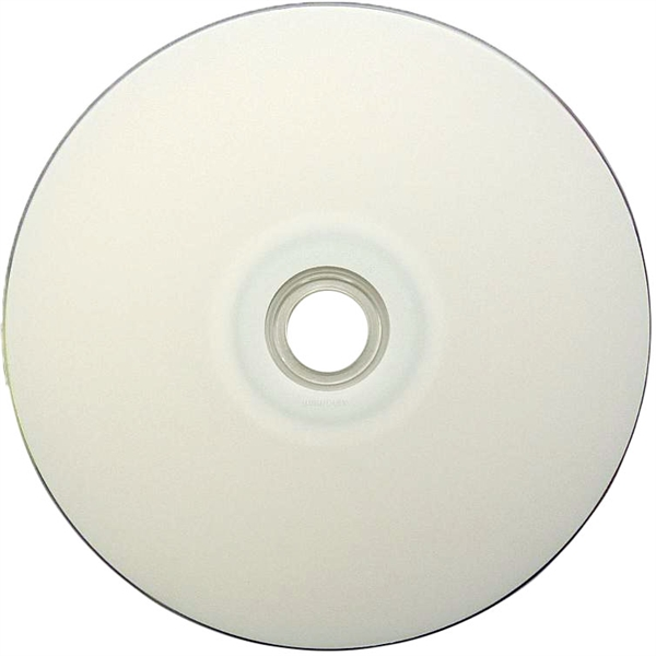 image relating to Ink Jet Printable Dvd identified as 200 Pack 16X HP White Inkjet printable DVD-R (Printable Hub)