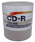 600 Pack PiData White Inkjet CD-R (printable hub)