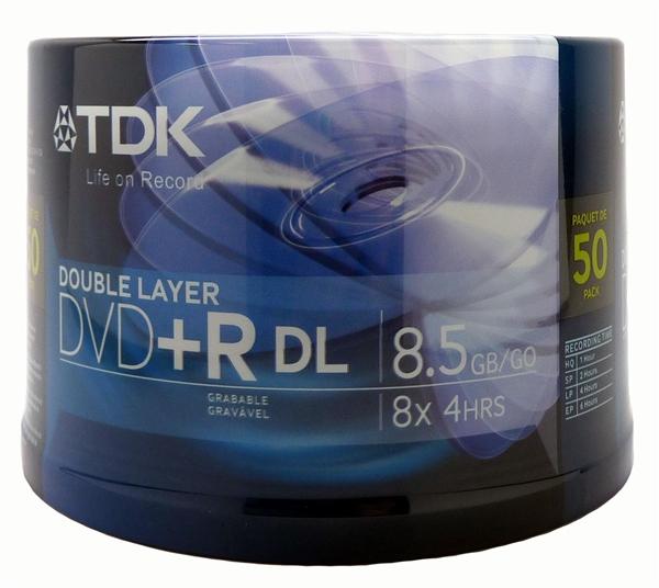 tdk branded dual layer dvd r
