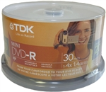 20 Pack TDK Branded Mini DVD-R 4X